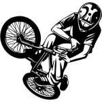 Extreme BMX Rider Sticker 2069