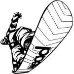 Extreme Snowboarder Sticker 2072