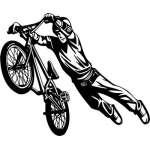 Extreme BMX Rider Sticker 2078