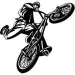 Extreme BMX Rider Sticker 2095