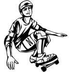Extreme Skater Sticker 2120