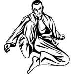 Extreme Karate Sticker 2176