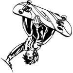 Extreme Skater Sticker 2190