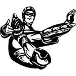 Extreme Inline Skater Sticker 2194