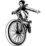 Extreme BMX Rider Sticker 2195