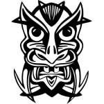 Ancient Mask Sticker 25