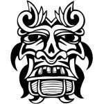 Ancient Mask Sticker 21
