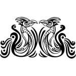 Tribal Bird Sticker 17