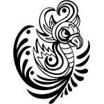 Tribal Bird Sticker 21