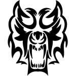 Tribal Predator Sticker 100