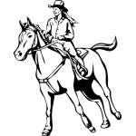 Cowgirl 1 Sticker