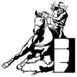 Barrel Racing Sticker