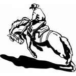 Bronco Riding 10 Sticker