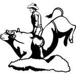 Bull Riding 6 Sticker