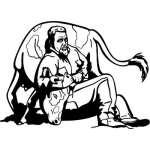 Steer Wrestling 2 Sticker