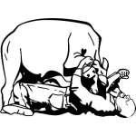 Steer Wrestling 4 Sticker