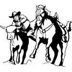 Steer Wrestling 5 Sticker