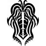 Tribal Water  Monster  Sticker 24