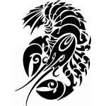 Tribal Water  Monster  Sticker 28