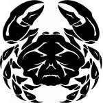 Tribal Water  Monster  Sticker