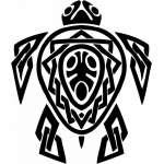 Tribal Water  Monster  Sticker 19