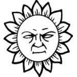 Sun Sticker 287