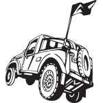 Dune Buggy Sticker 25