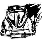 Flaming Hotrod Sticker 11