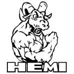 Hemi Ram Sticker