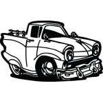 Classic Truck Sticker 3