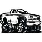 Classic Truck Sticker 12