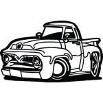 Classic Truck Sticker 20