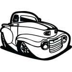 Classic Truck Sticker 4