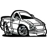 Classic Truck Sticker 10