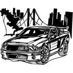 Muscle Car Sticker 1