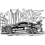 Muscle Car Sticker 4