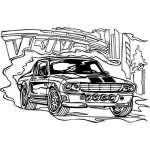 Muscle Car Sticker 5