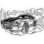 Muscle Car Sticker 8