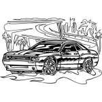 Muscle Car Sticker 11