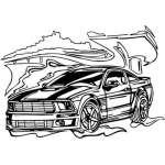 Muscle Car Sticker 44