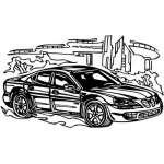 Muscle Car Sticker 55