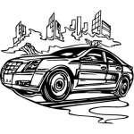 Muscle Car Sticker 71