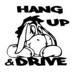 Eeyore Hang up and Drive Sticker