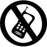 No Phone Zone, No Cell Sticker
