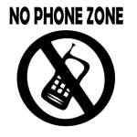 No Phone Zone 5 Sticker