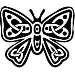 Tribal Butterfly Sticker 5