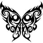 Tribal Butterfly Sticker 122