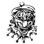 Clown 28 Sticker