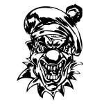 Clown 42 Sticker