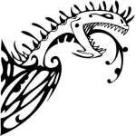 Tribal Dragon Sticker 103